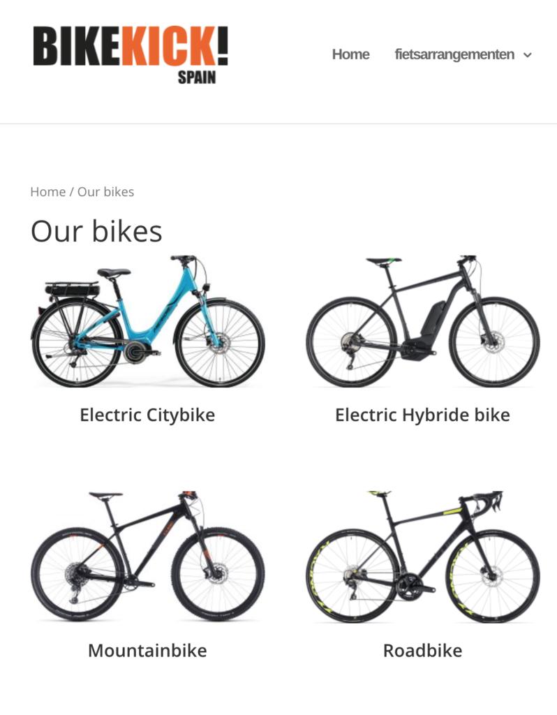 Bike reservation module Bikekick.eu/